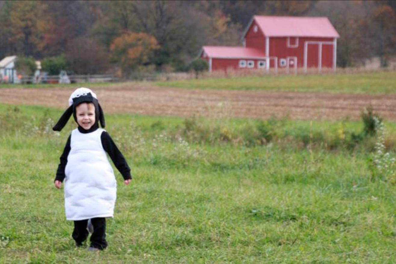 Kinderkostüm selber machen: Shawn das Schaf