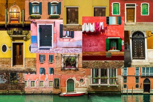 Sony World Photography Awards 2015: Handelt es sich hierbei um ein Bild oder um vier? Fotos von Türen in Venedig, Teheran, Spandau und Berlin wurden zerschnitten und neu zusammengefügt.