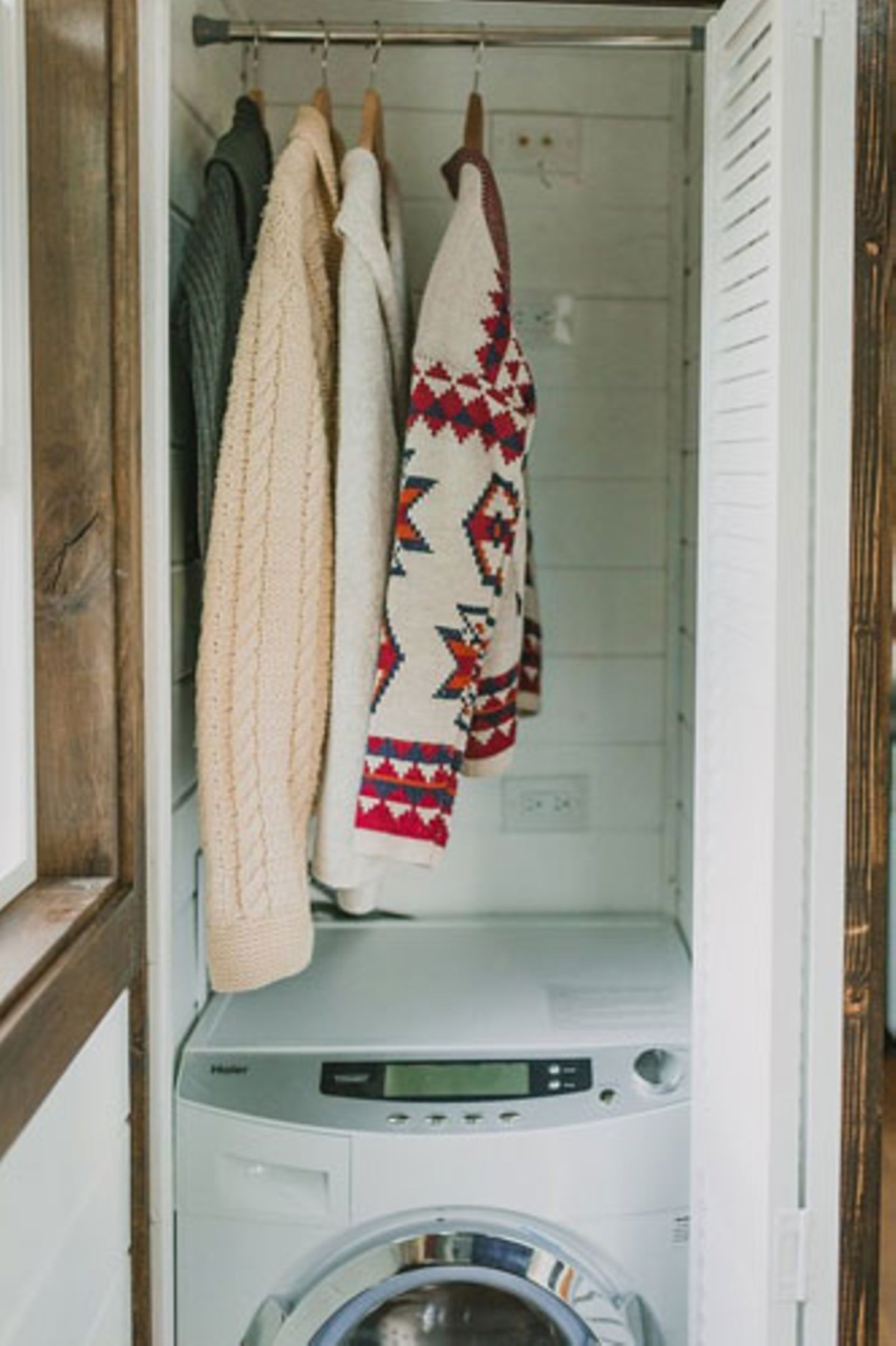 Waschmaschine in der Garderobe