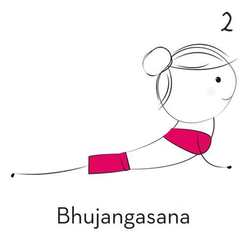 2) Bhujangasana (Kobra)