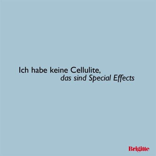 Ich habe keine Cellulite, das sind Special Effects
