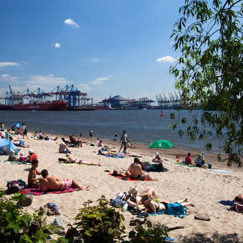 Highlights in Hamburg: 6. Im Sommer an die Elbe