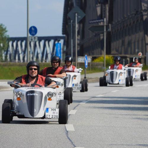Highlights in Hamburg: 8. Mit der Seifenkiste durch die City