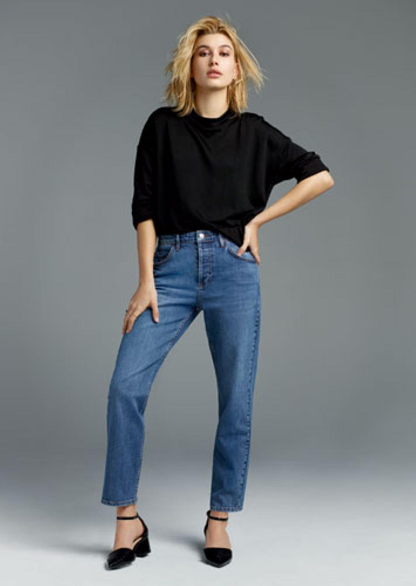 """Das neue Jeans-Modell """"Girlfriend"""" - gerade geschnittenes Bein, das über dem Knöchel endet, Vintage-Waschung, Stretch-Material."""
