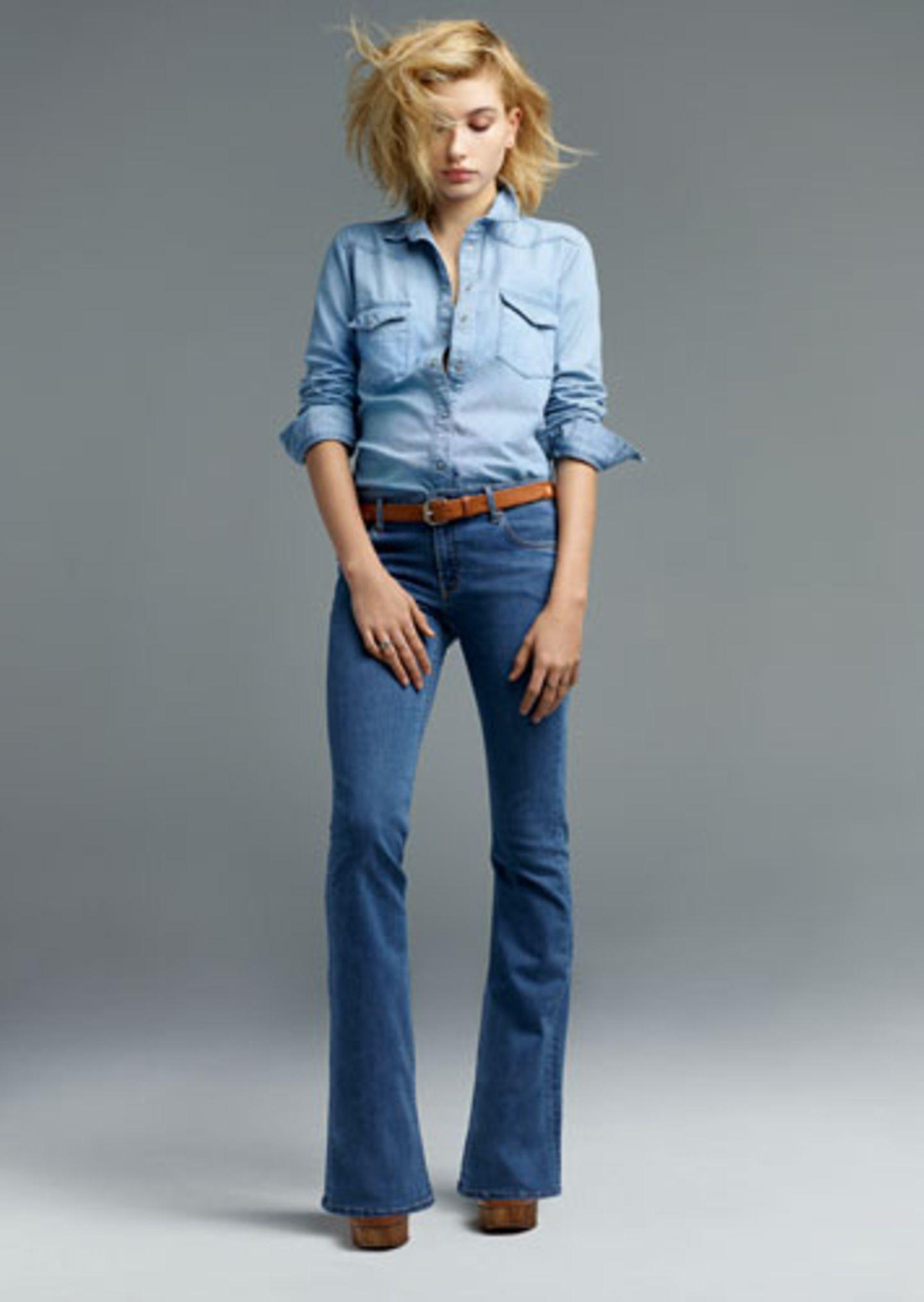 """""""Jamie Flare"""" - eine neue Version der """"Jamie""""-Jeans mit ausgestelltem Hosenbein."""