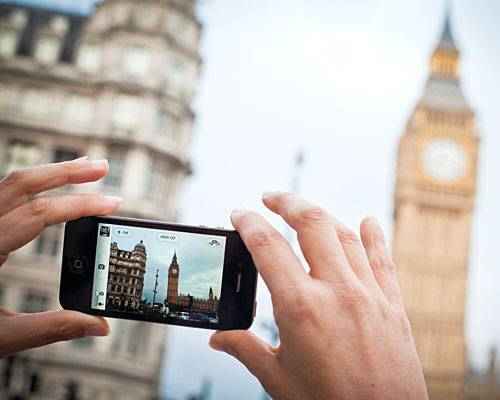 Foto mit Smartphone vom Big Ben in London