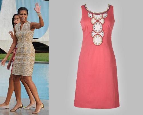 Michelle Obama im Etuikleid