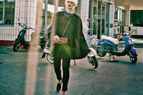 Sixties-Mode: Wenn Denim auf Leder trifft