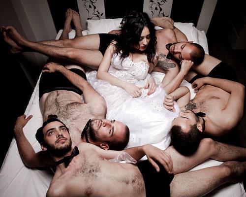 Männer Frau Bett