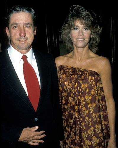 Jane Fonda mit ihrem Ehemann Tom Hayden