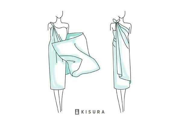 Pareos wickeln - das Toga-Kleid