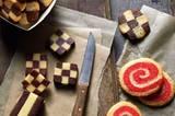 Pinwheels und Checkerboard Cookies