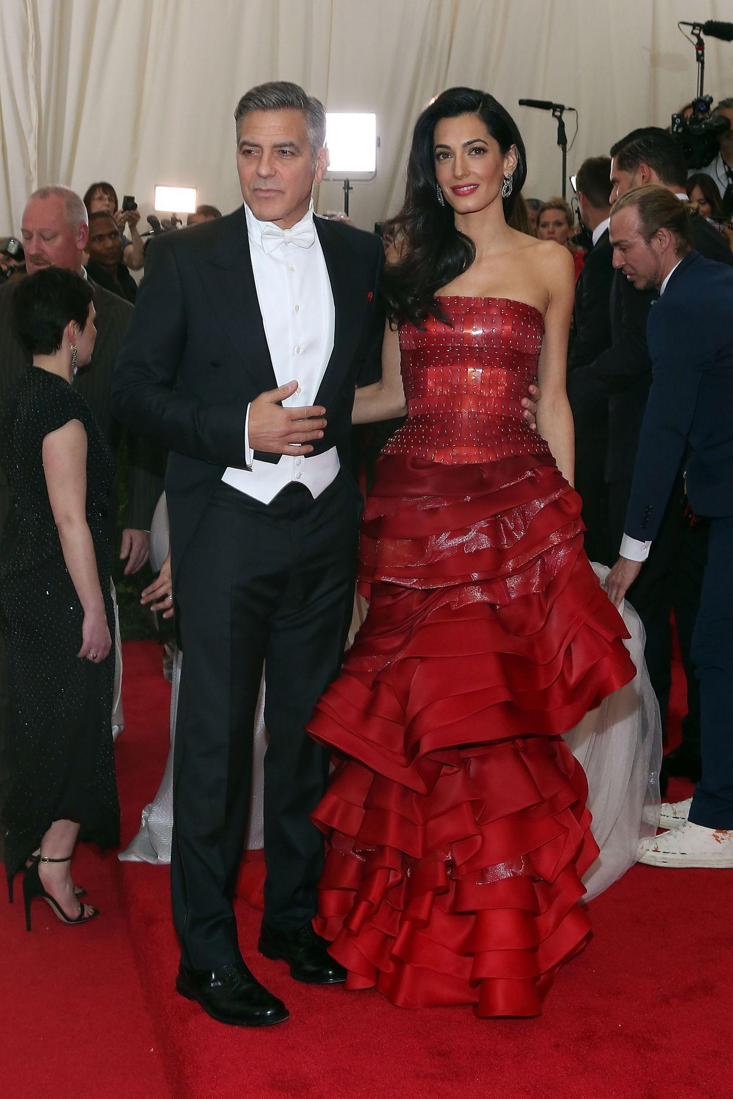 Met Gala 2015: George & Amal Clooney