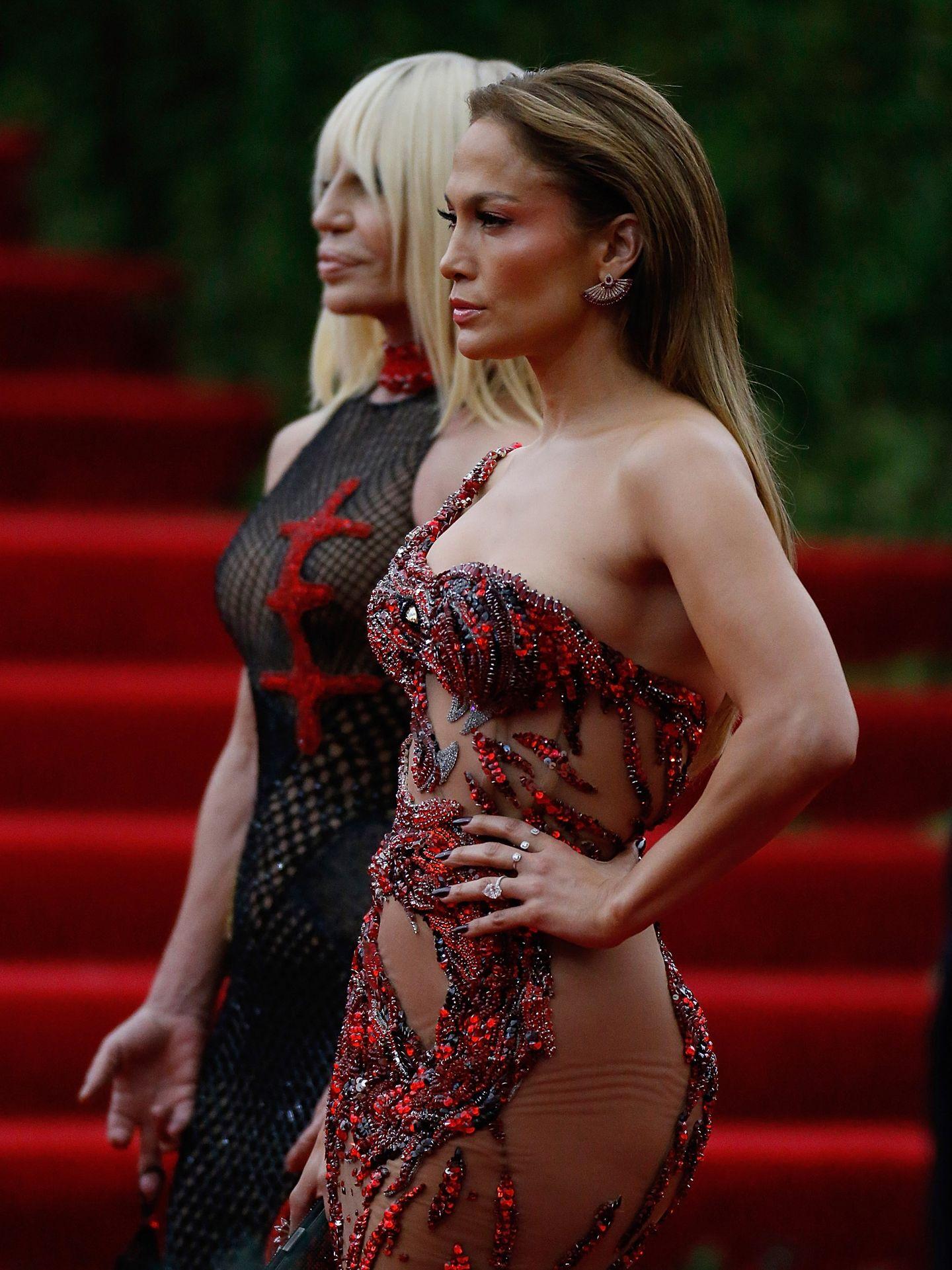 Met Gala 2015: Jennifer Lopez & Donatella Versace