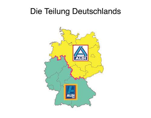 Gefühlte Wahrheiten: Ost oder West? Gar nicht so wichtig - die wahre Teilung Deutschland zeigt sich an dieser Stelle. Nur eine von vielen lustigen Erkenntnissen, die Autorin und Bloggerin Katja Berlin in ihrem neuen Buch Gefühltes Deutschland grafisch umgesetzt hat.