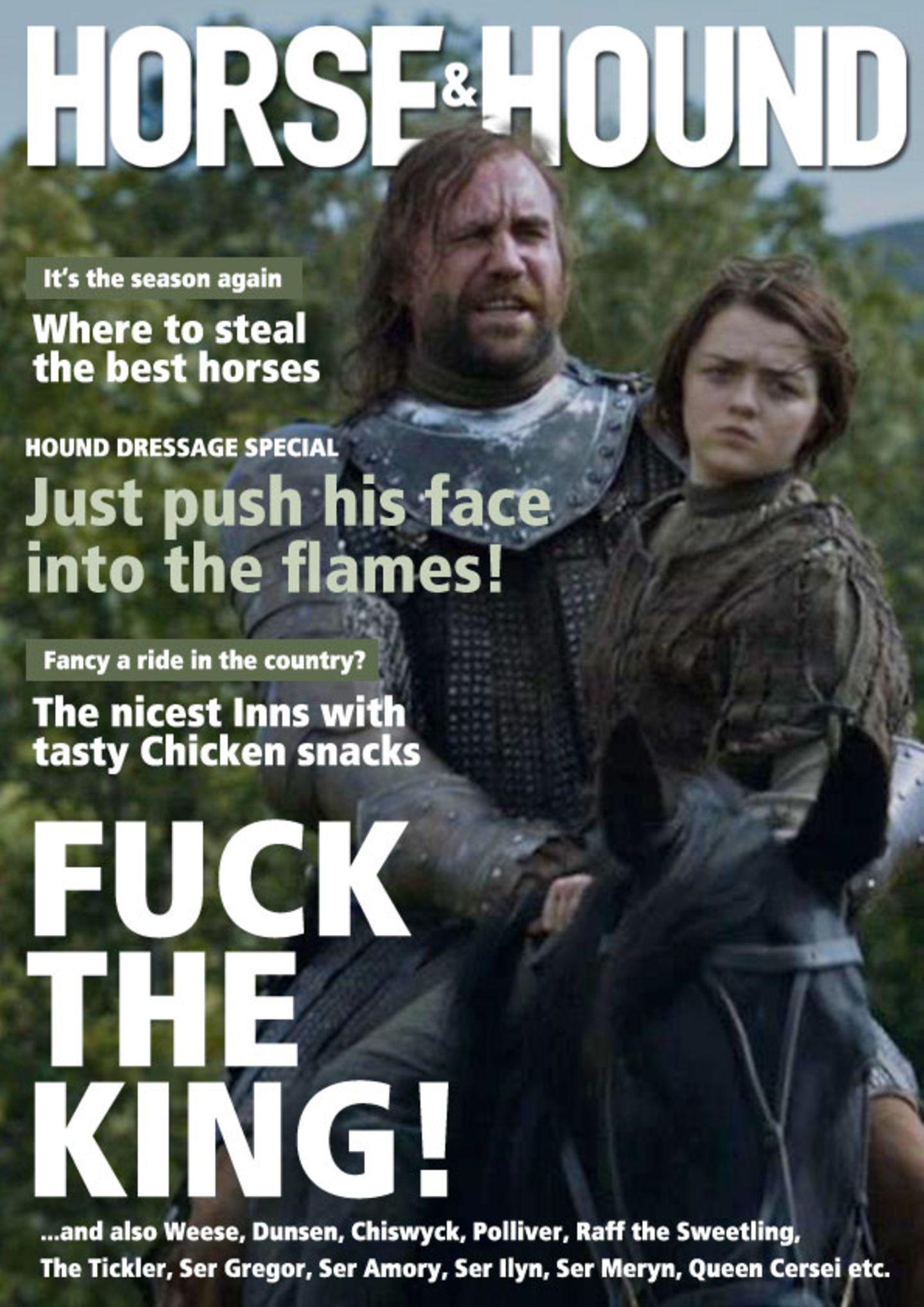 Auch der Trend zu Landlust-Zeitschriften ist an Westeros natürlich nicht vorbeigegangen.