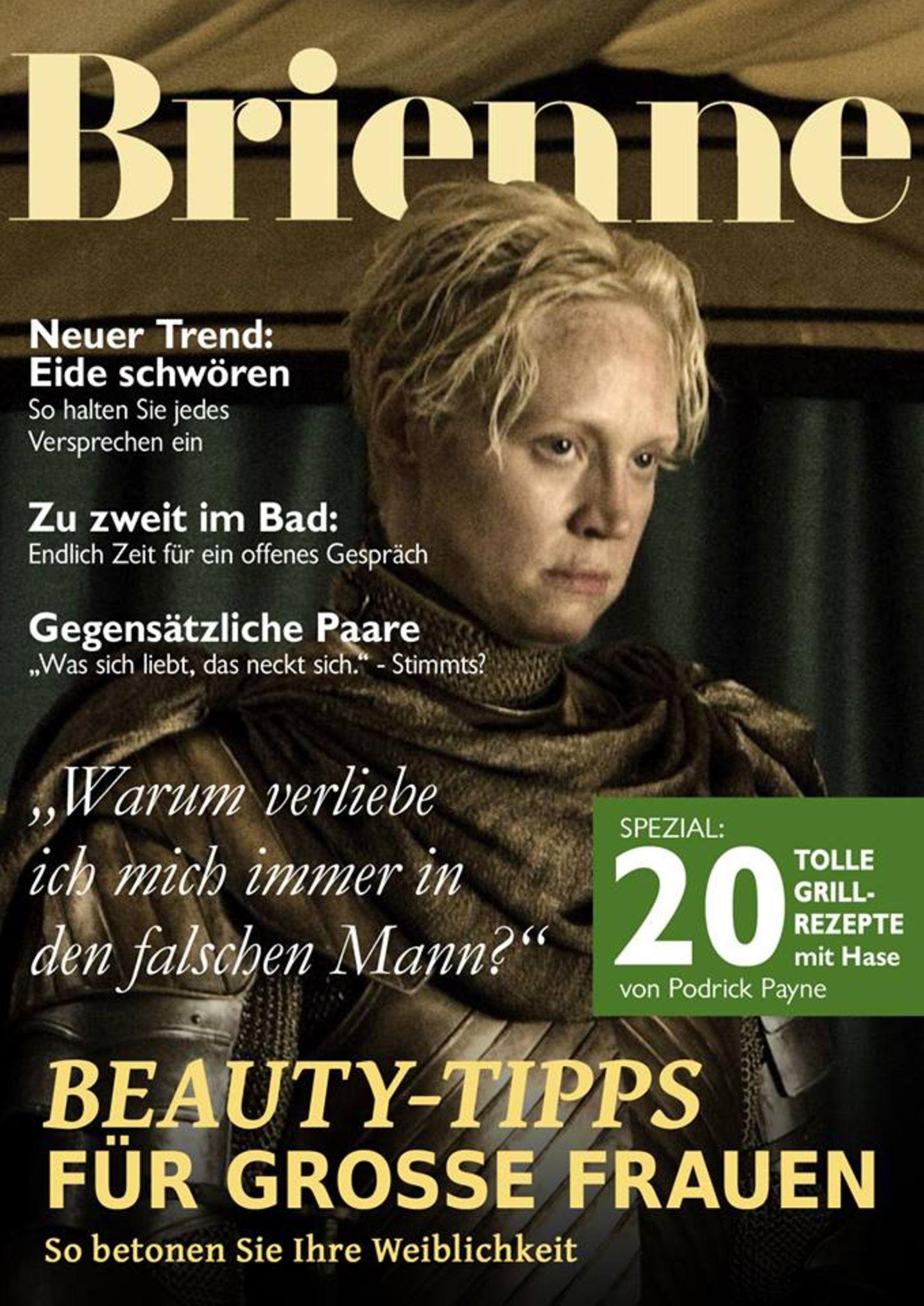 """Auch Schwestermagazin """"Brienne"""" hat einen völlig neuen Ansatz für das Label """"Plus Size"""" und viele gute Tipps für die Ritterin von Welt."""