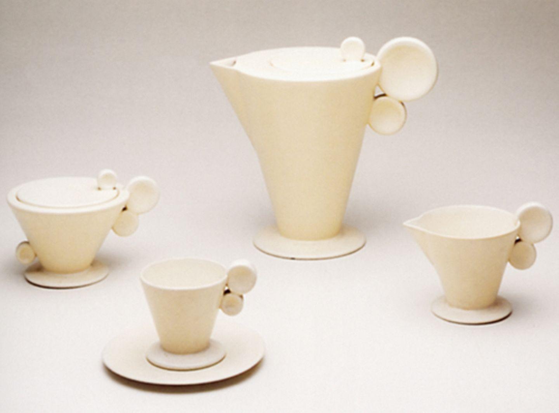 Teeservice mit Doppelhenkel, um 1930