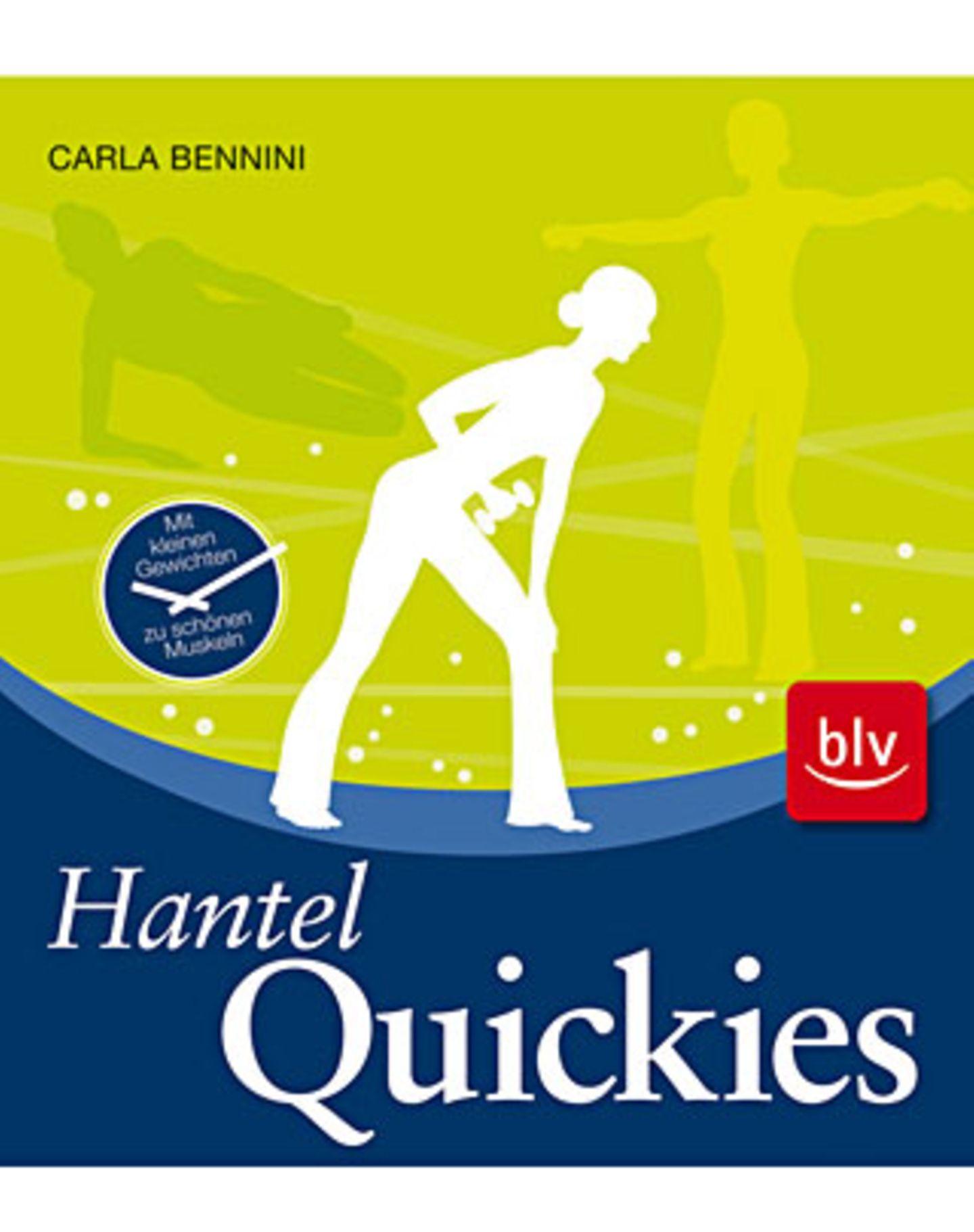 """Die Übungen und Fotos sind dem Band """"Hantel-Quickies"""" von Carla Bennini, entnommen. Hier finden Sie weitere Übungen, um gezielt ihre Figur zu trainieren. ISBN: 978-3-8354-0429-8, blv-Verlag, € 12,95"""