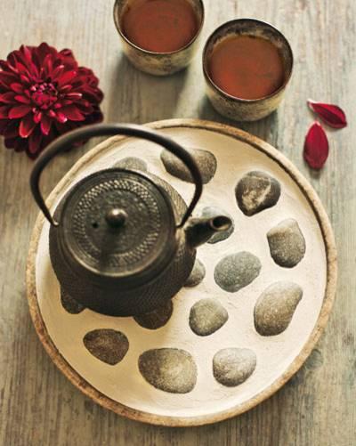 Deko aus der Natur: Feriengrüße zum Tee
