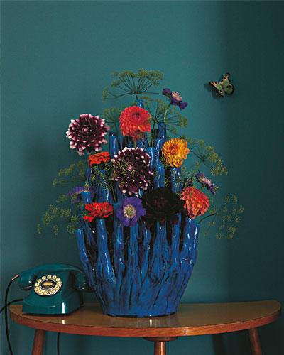Blumenvase Telefon