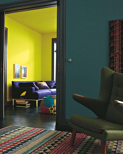 wohnzimmer petrol braun:Einrichten: Farben fürs Wohnzimmer: Jetzt wird's bunt! – BRIGITTE