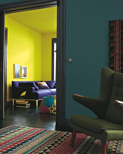 Zimmer Sofa Sessel Petrol Und Gelb