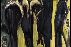 """""""Das schönste Museum der Welt"""" - Museum Folkwang bis 1933 20. März bis 25. Juli 2010 Ernst Ludwig Kirchner: Fünf Frauen auf der Straße, 1913, Museum Ludwig, Köln."""