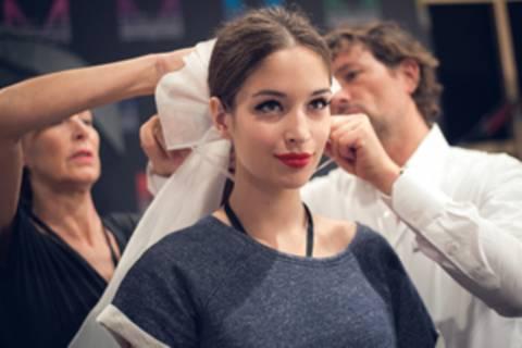 Backstage bei der Fashion Week Berlin