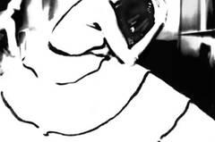 """Die heute 92 Jahre alte Künstlerin verbindet Fotografie mit Malerei. Einen wesentlichen Teil ihrer Arbeit erledigte sie früher in der Dunkelkammer, heute am Computer. Eines ihrer wichtigsten Mittel: """"Kodak Potassium Ferricyanide"""", ein Bleichmittel, mit dem Bassman die großflächigen weißen Stellen kreierte."""