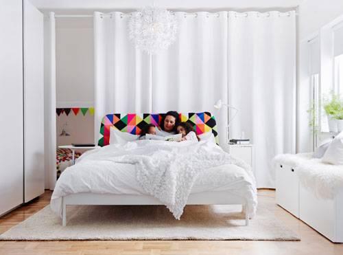 Schlafzimmer Familie Vorhang