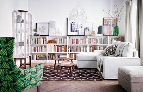 Wohnzimmer Bücher Sofa