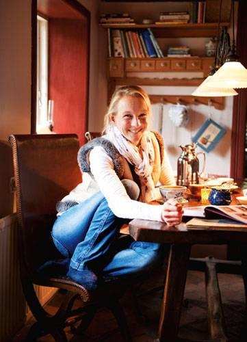 Katja Just zu Hause