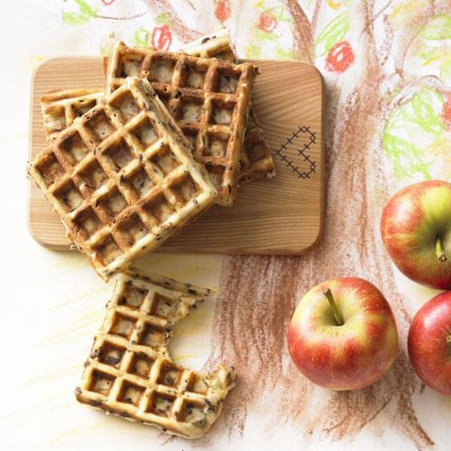 Apfel-Schoko-Waffeln