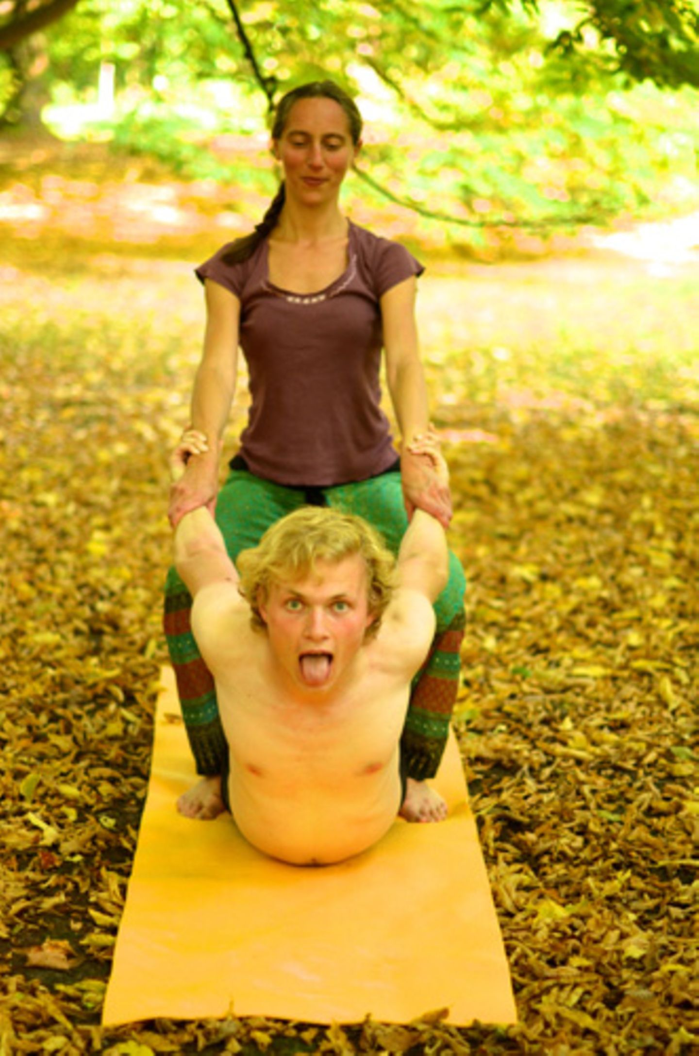 Muss ich schon Erfahrungen im Yoga haben, um diese Massage zu empfangen?