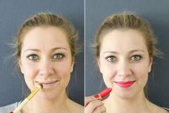 Beauty-Hacks: Leuchtendes Rot für schmale Lippen
