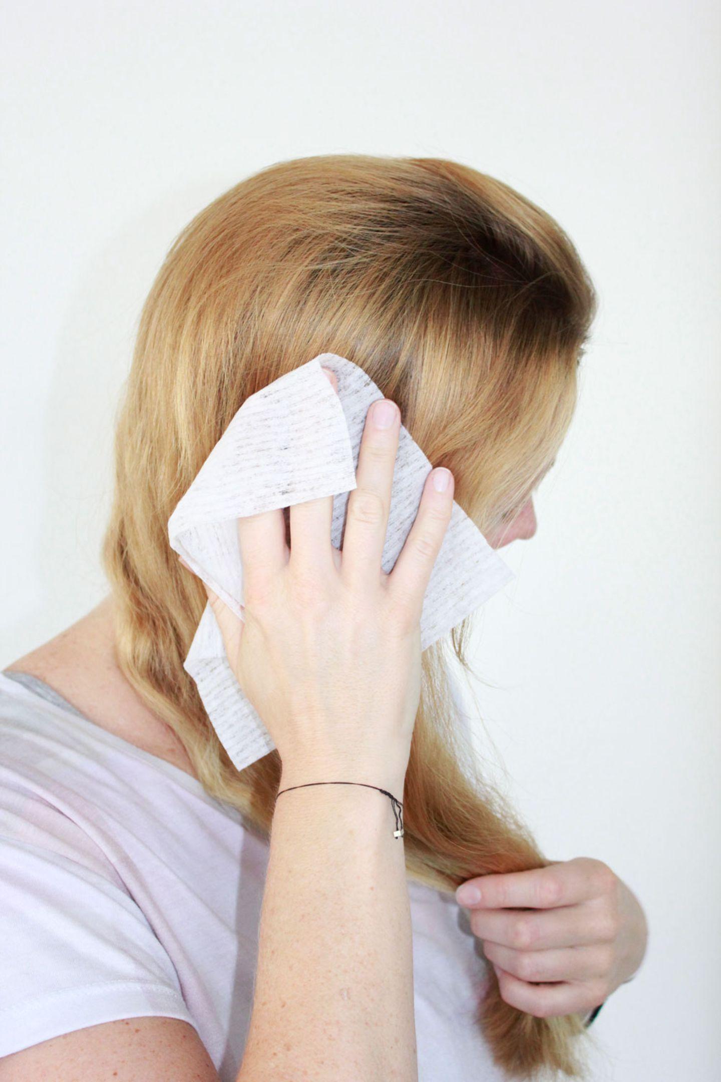 Beauty-Hacks: Feuchttücher für die Haare