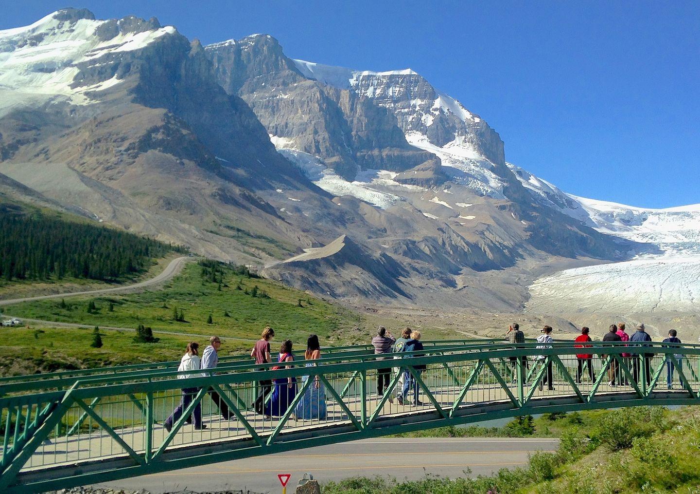 10) Athabasca-Gletscher, Rocky Mountains