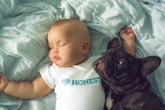 Seitdem dokumentiert die Fotografin mit liebevollen Aufnahme die besondere Freundschaft zwischen ihrem Sohn und der kleinen Bulldoge. Die beiden machen alles zusammen, sei es nun der tägliche Mittagsschlaf, ein gemeinsames Bad oder das Mittagessen.