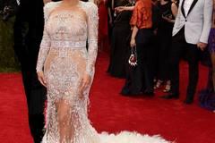 Kim Kardashian im Mai mit Mann Kanye West in New York.