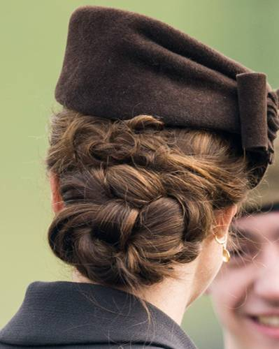 Stars mit Flechtfrisuren: Kate Middleton