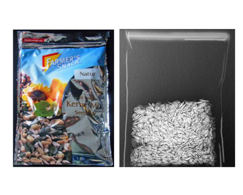 Besonders raffiniert: Hier wurde der Verpackungsboden um vier Zentimeter eingezogen, um eine besonders große Tüte mit wenig Inhalt zu erzielen.