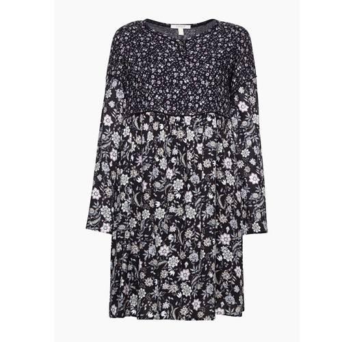 Tunika-Kleid mit Blumenprint