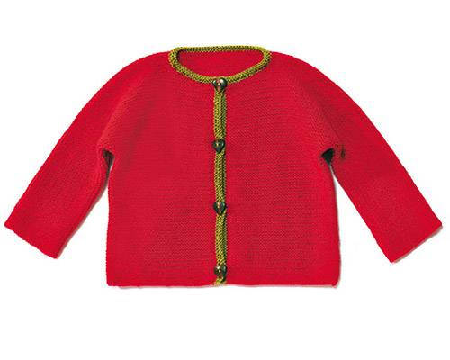 Trachtenjacke für Kinder stricken