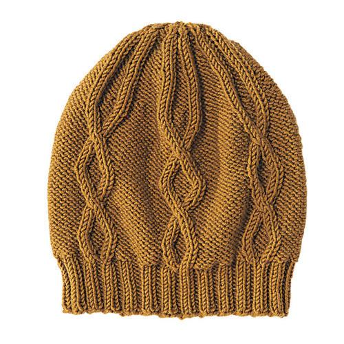 Mütze mit Rautenmuster stricken