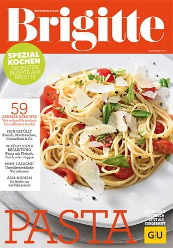 """Bookazine: Wir haben das beliebte BRIGITTE-Kochbuch """"Pasta"""" neu aufgelegt - Sie erhalten es für 5,95 Euro als Bookazine im Zeitschriftenhandel oder online im BRIGITTE-Shop."""