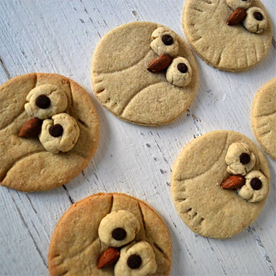 Eulen-Cookies mit Hafer und Orange