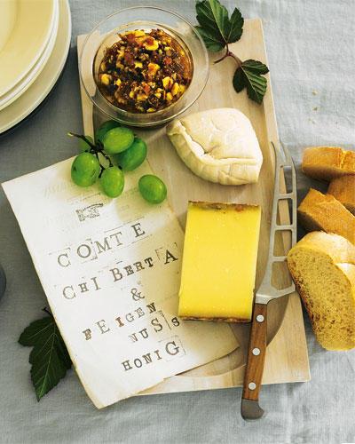 Feine Käse und Feigen-Nuss-Honig