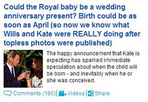 Royal Baby - Protest gegen Paparrazzi?