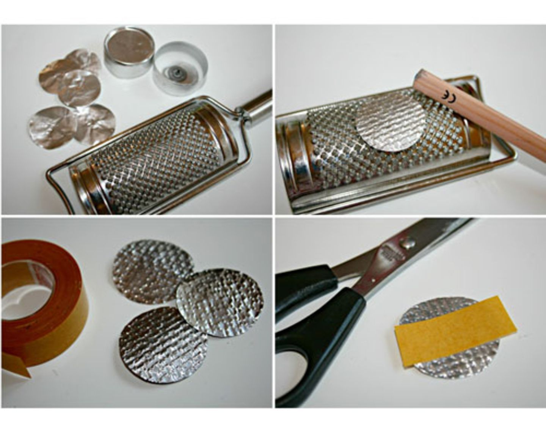 Silberdeko für Minikommode